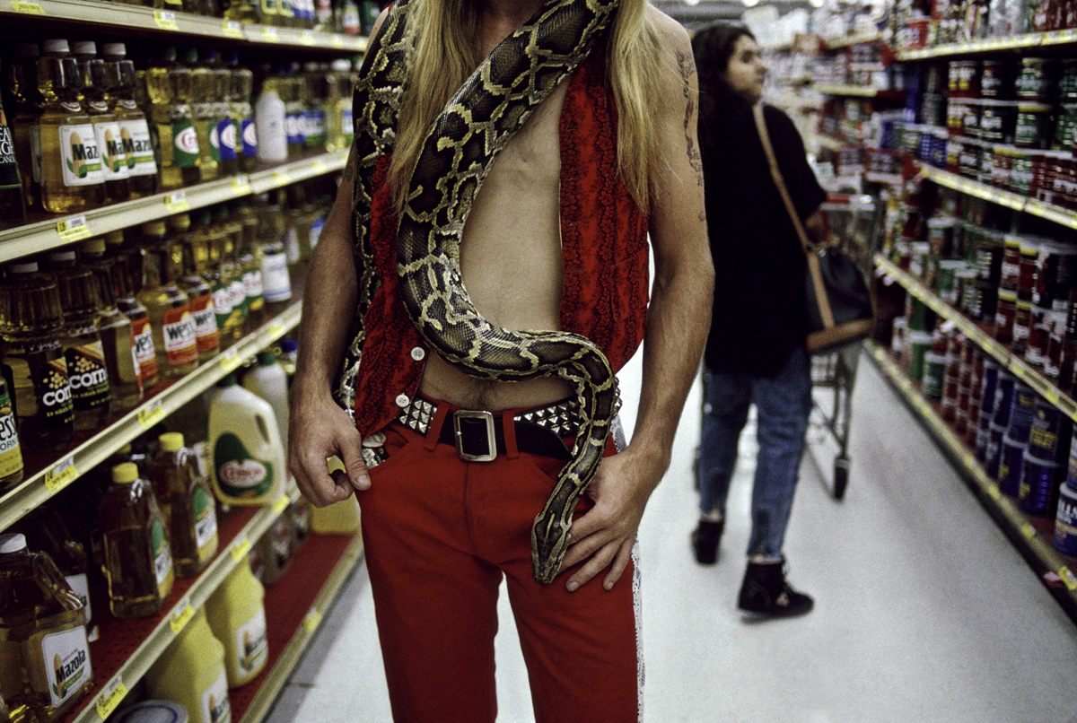 Man with Python, Los Angeles, 1991